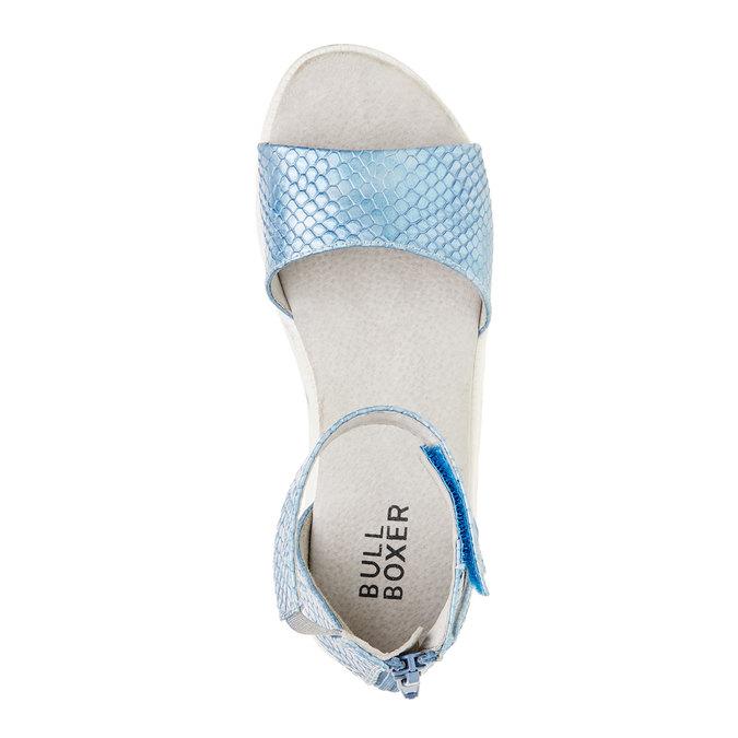 Sandály s páskem kolem kotníku bull-boxer, modrá, 421-9002 - 19