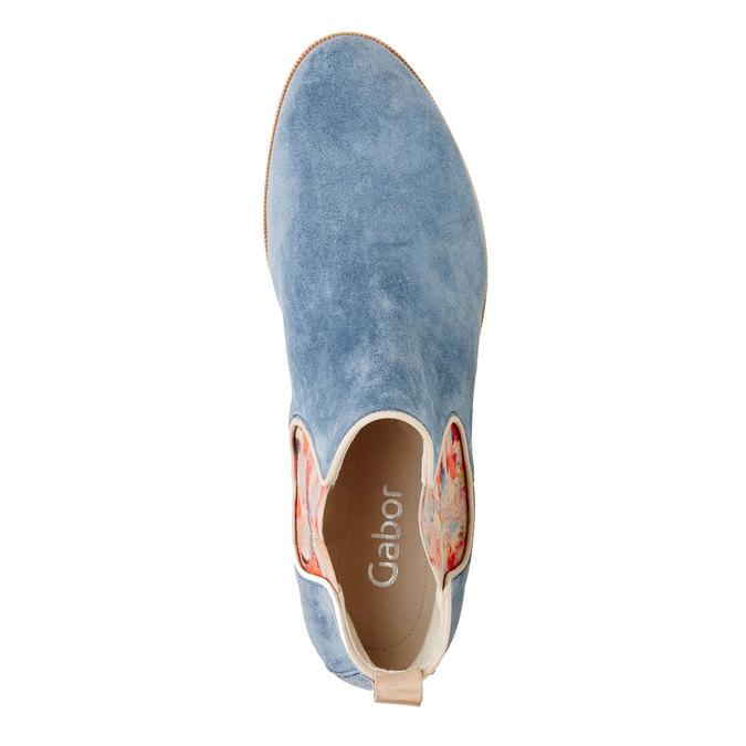 Kožené Chelsea boots gabor, modrá, 593-9012 - 19