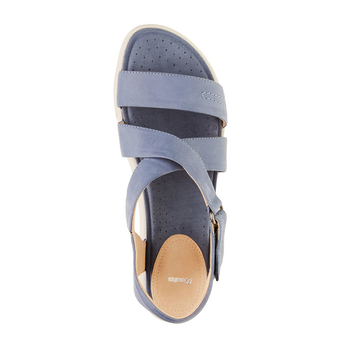 Dámské kožené sandály bata, modrá, 564-9351 - 19