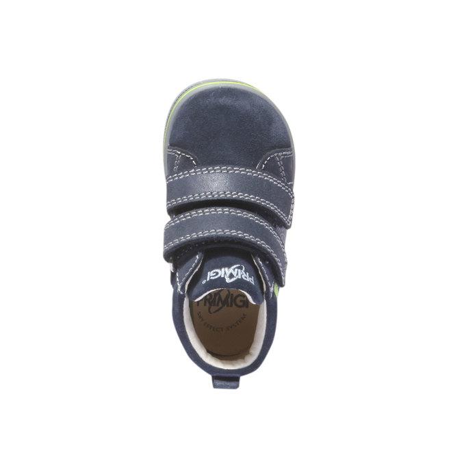 Kožené kotníkové boty na suché zipy primigi, modrá, 113-9121 - 19