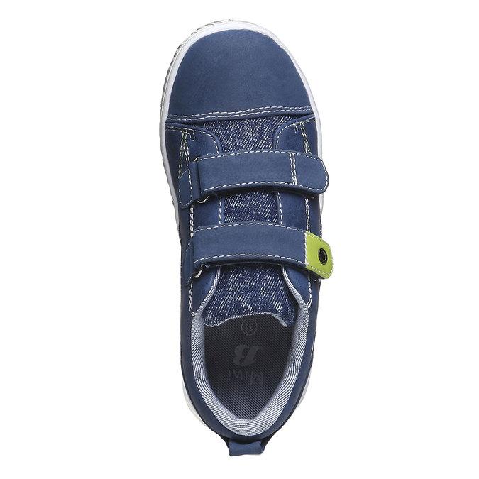 Dětské tenisky na suché zipy mini-b, modrá, 211-9157 - 19