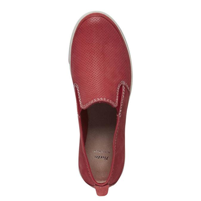 Kožené Plim Soll boty s perforací bata, červená, 514-5197 - 19