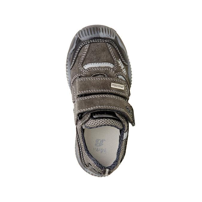 Dětské Kožené tenisky na suché zipy mini-b, šedá, 213-2130 - 19