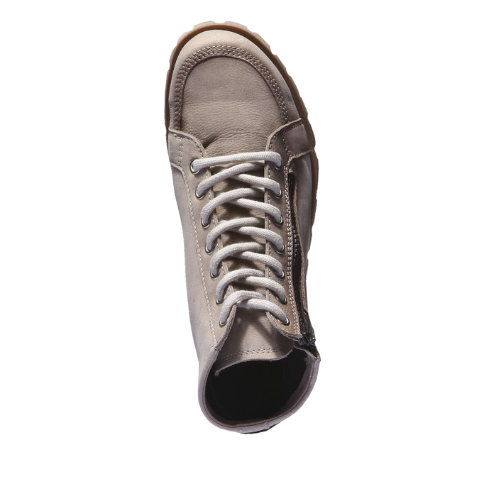 Designová kožená obuv weinbrenner, hnědá, šedá, 544-2145 - 19