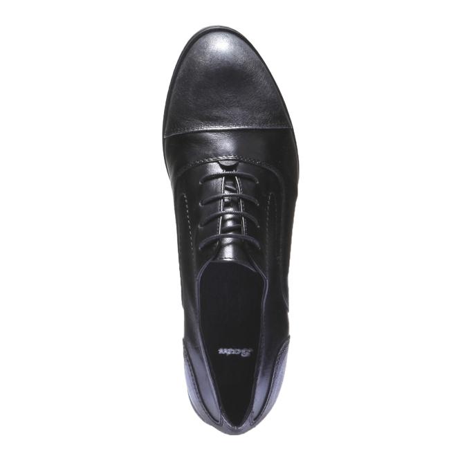 Kožené dámské polobotky bata, černá, 524-6104 - 19