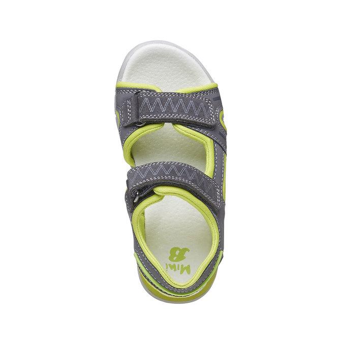 Dětské sandály s koženými pásky mini-b, šedá, 264-2166 - 19