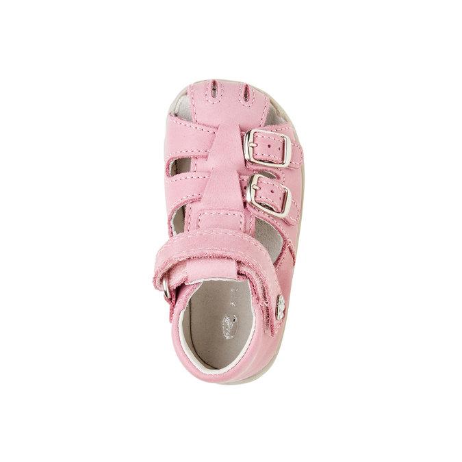 Dětské kožené sandály richter, růžová, 164-5003 - 19