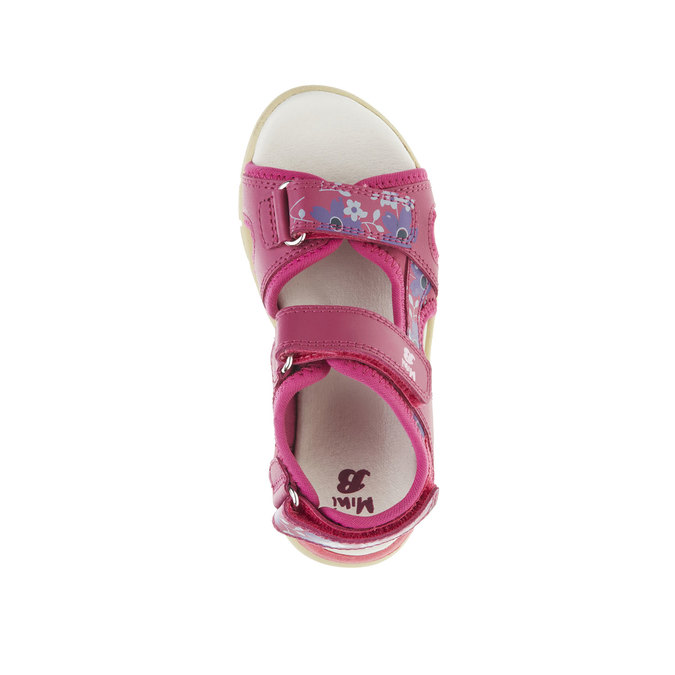 Dívčí kožené sandály mini-b, růžová, 369-5500 - 19