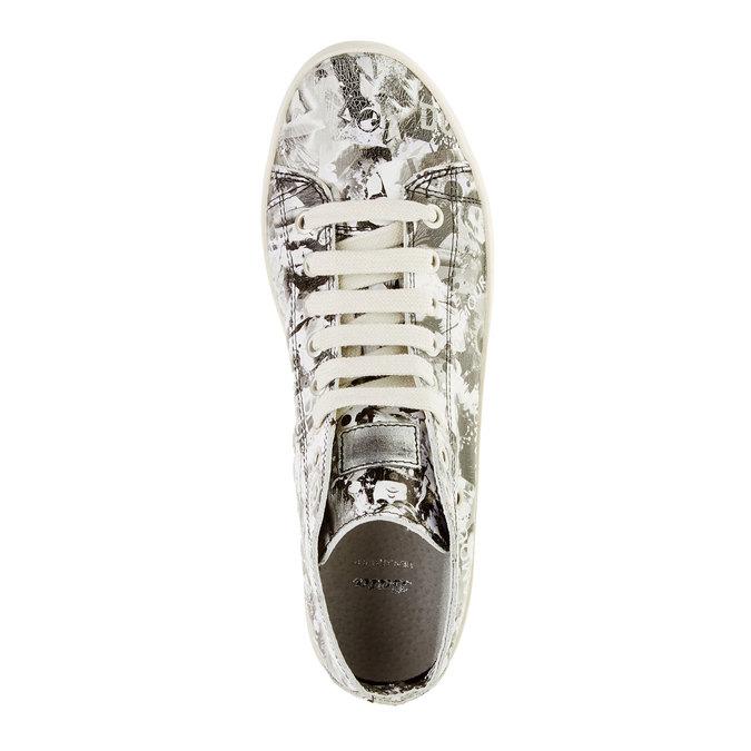 Kožené kotníčkové tenisky bata, bílá, 526-1130 - 19