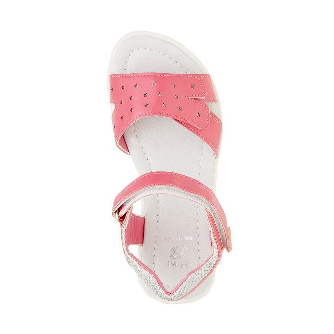 Dívčí sandály na suché zipy mini-b, růžová, 361-5180 - 19