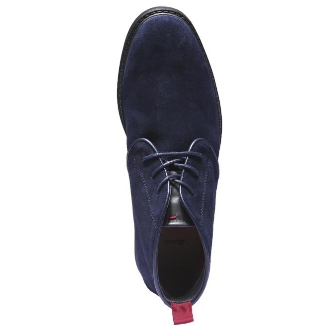 Kožené Chukka boty bata, modrá, 893-9245 - 19