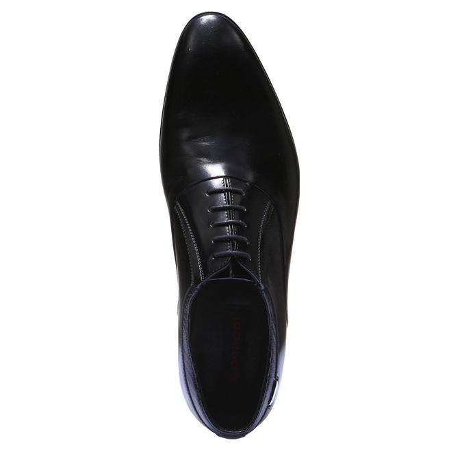 Luxusní kožené Oxfordky bata, černá, 824-6121 - 19