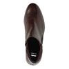 Kožená kotníčková obuv se zipy bata, červená, 596-5605 - 19