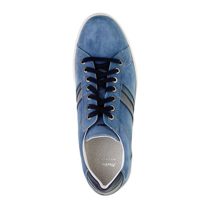 Ležérní tenisky z broušené kůže bata, modrá, 846-9638 - 19