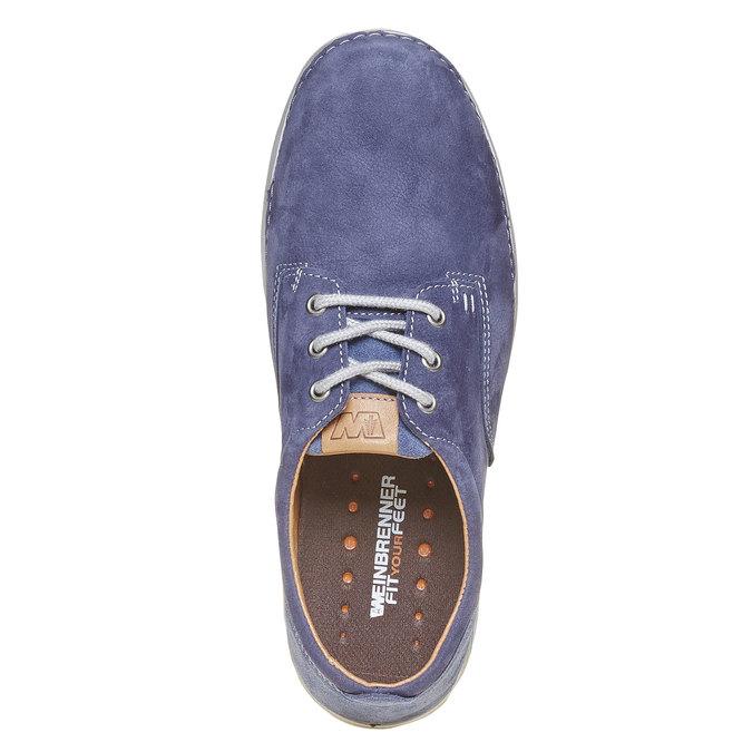Pánská kožená obuv weinbrenner, modrá, 846-9657 - 19