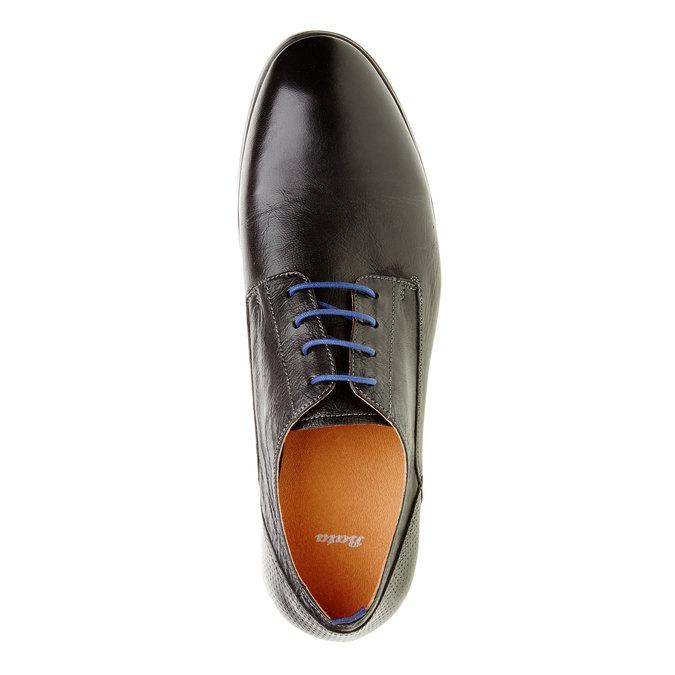 Kožené polobotky v Derby stylu bata, černá, 824-6605 - 19