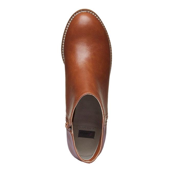 Kotníčkové kozačky na širokém podpatku bata, hnědá, 691-3271 - 19