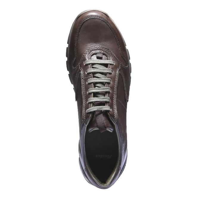 Kožené tenisky bata, hnědá, 844-4270 - 19