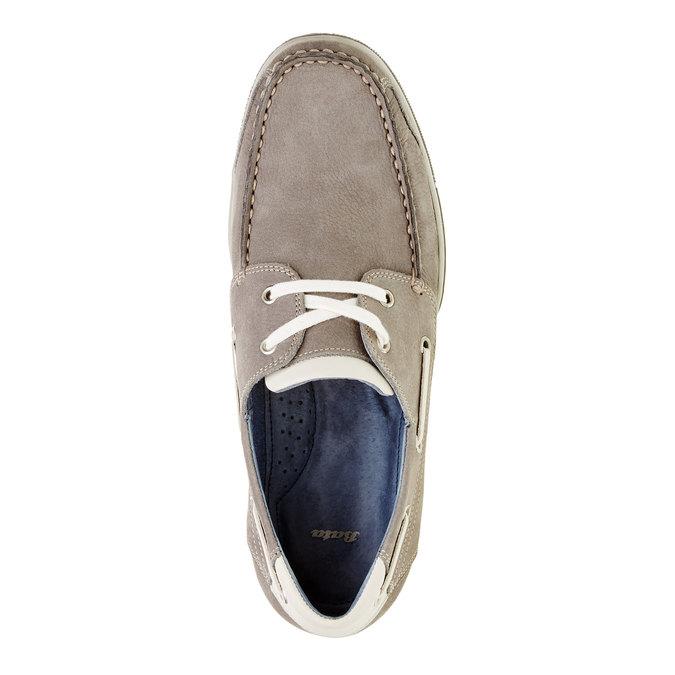 Ležérní kožené mokasíny bata, šedá, 856-2176 - 19