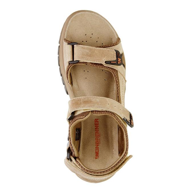 Pánské kožené sandály weinbrenner, hnědá, 866-3107 - 19