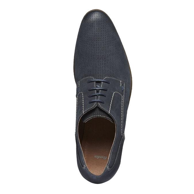 Ležérní kožené polobotky bata, černá, 826-6832 - 19