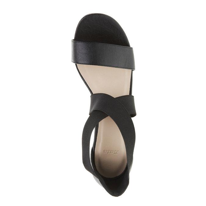 Dámské páskové sandály na vysokém podpatku bata, černá, 769-6300 - 19