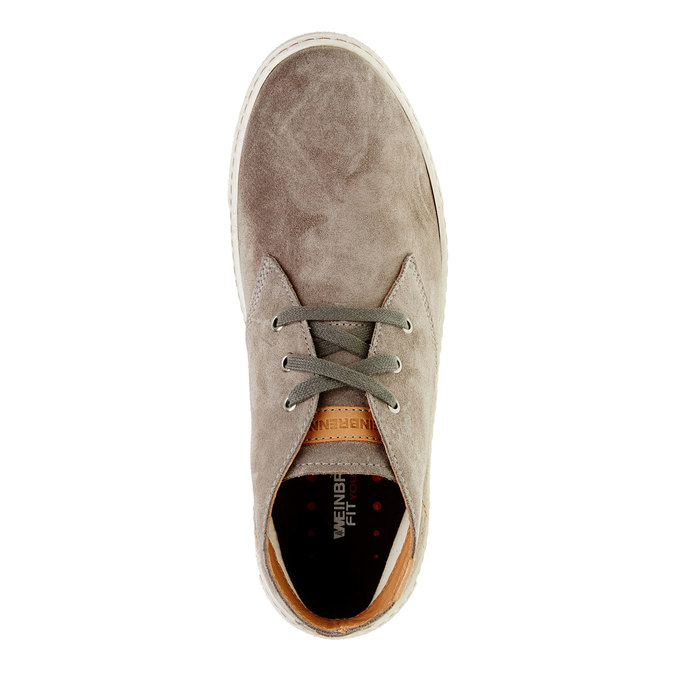 Pánská kožená obuv weinbrenner, hnědá, 843-2661 - 19