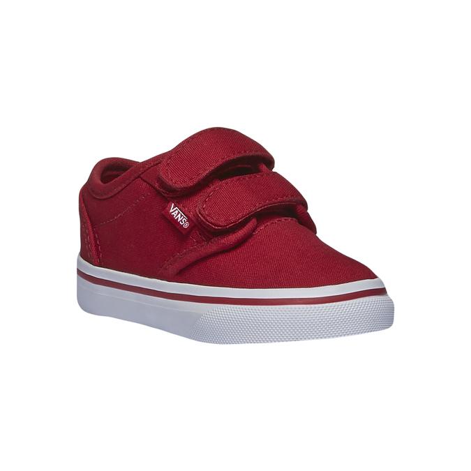 Dětské tenisky na suchý zip vans, červená, 189-5160 - 13
