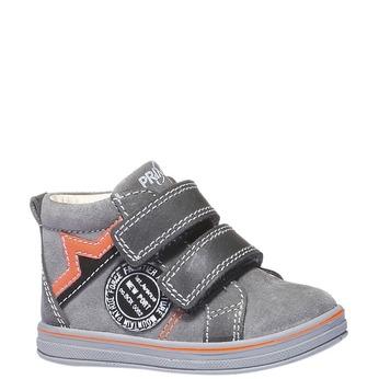 Kožené kotníkové boty na suché zipy primigi, šedá, 113-2121 - 13