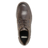 Kožené polobotky s prošitím na špici bata, hnědá, 826-4640 - 19