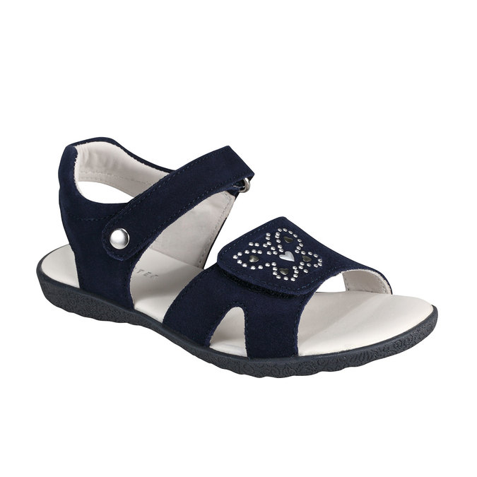 Kožené sandály richter, fialová, 263-9100 - 13