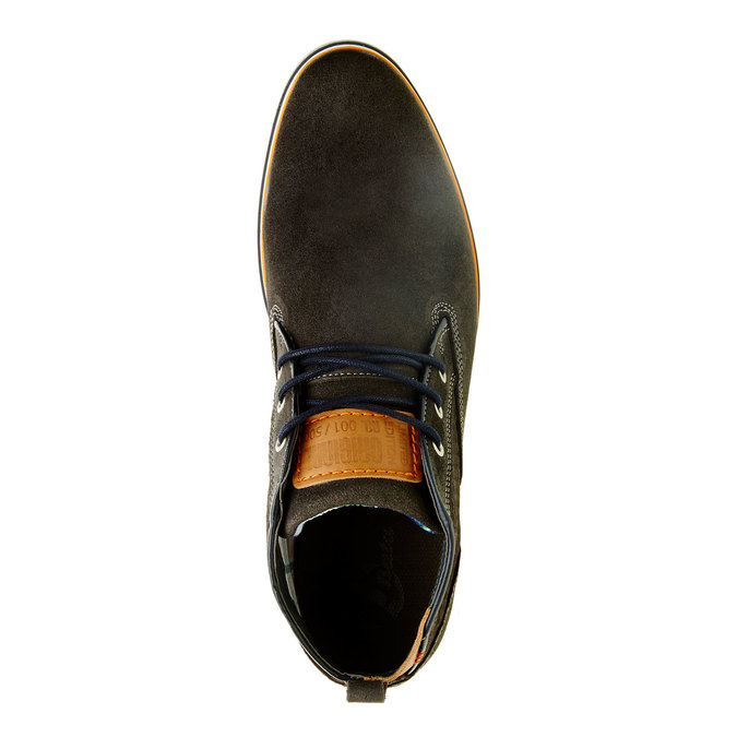 Kotníčkové kožené polobotky bata, hnědá, 843-2311 - 19