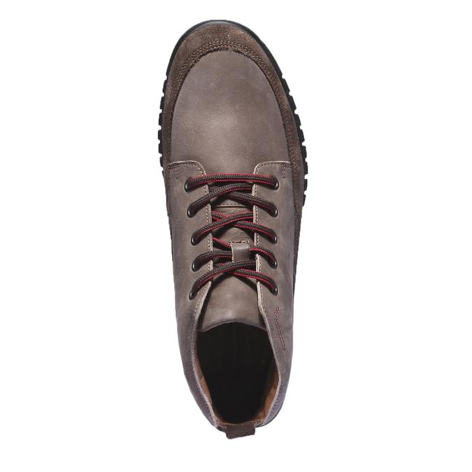 Ležérní kožené tenisky bata, hnědá, 896-4195 - 19