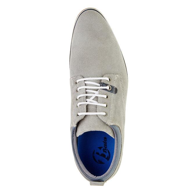 Ležérní kožené polobotky bata, šedá, 826-2107 - 19