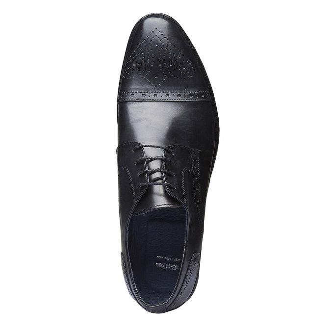 Kožené polobotky v Derby střihu bata, černá, 824-6809 - 19