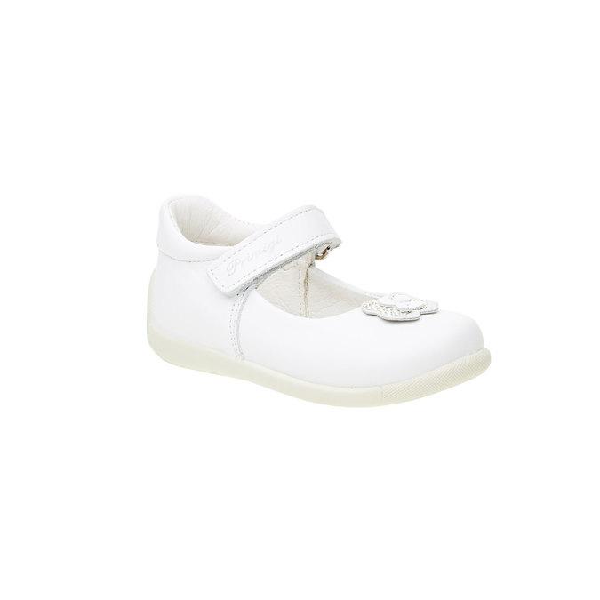 Bílá dětská obuv s páskem primigi, bílá, 124-1136 - 13