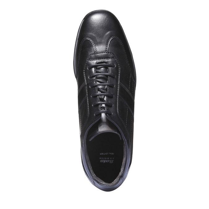 Kožené tenisky s koženou podšívkou air-system, černá, 824-6277 - 19