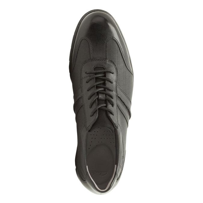 Kožené ležérní tenisky clarks, černá, 824-6308 - 19