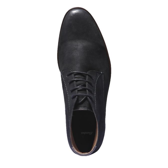 Kožená obuv v Chukka stylu bata, černá, 844-6171 - 19