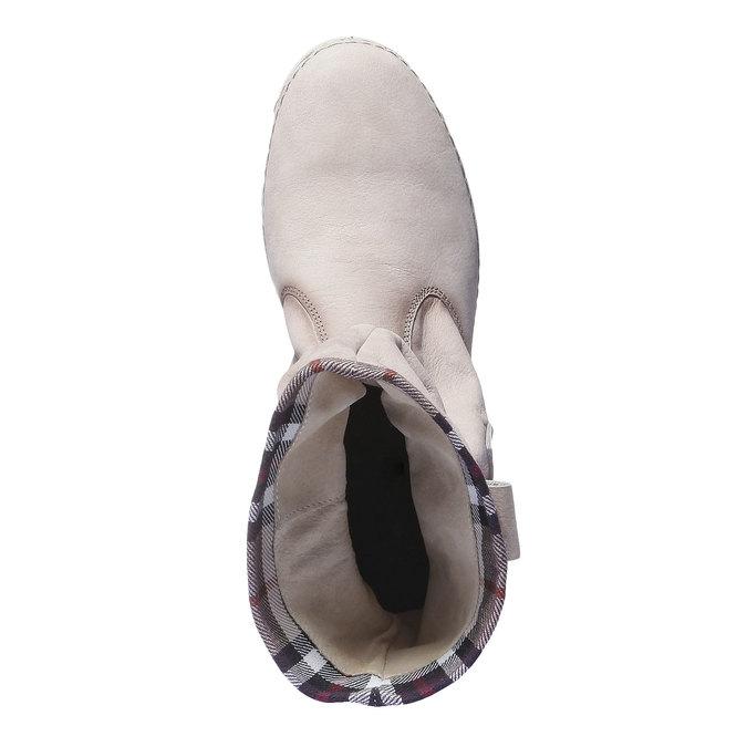 Kožená obuv s barevným lemem weinbrenner, 596-8311 - 19
