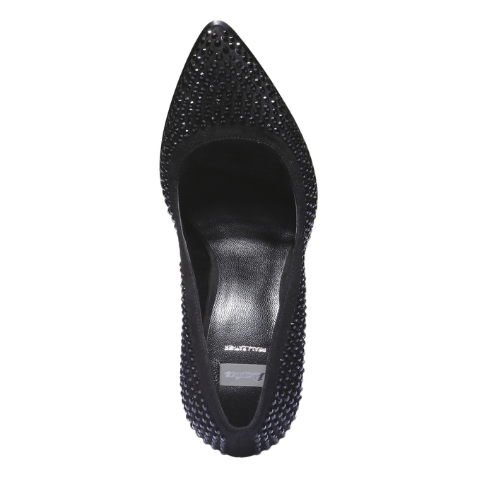 Lodičky na stiletto podpatku se štrasem bata, černá, 721-6879 - 19
