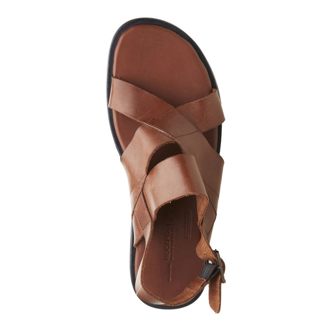 Pánské kožené sandály rockport, hnědá, 864-3106 - 19