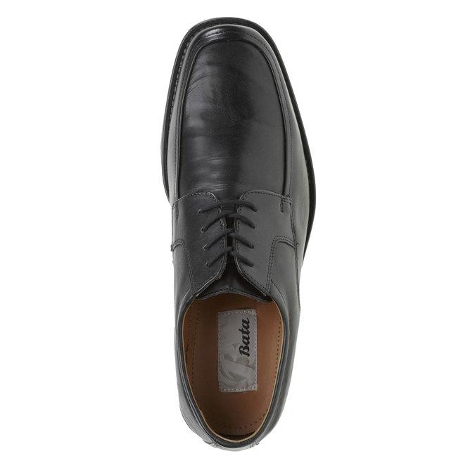 Kožené polobotky v Derby stylu bata, černá, 824-6509 - 19