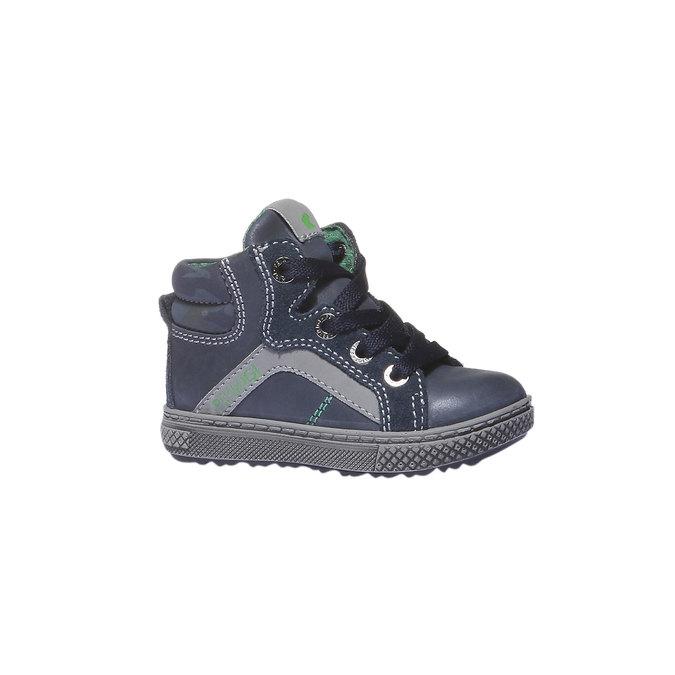 Kožené kotníkové boty ke kotníkům primigi, modrá, 114-9133 - 13