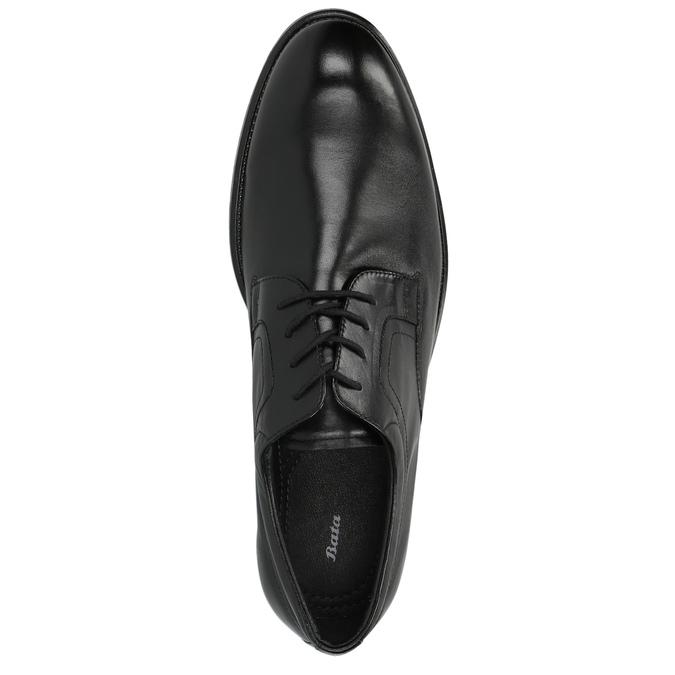 Kožené polobotky s kulatou špicí bata, černá, 824-6657 - 19