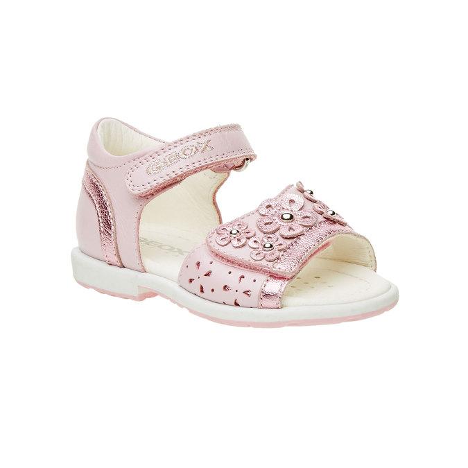 Dětské kožené sandály geox, růžová, 166-5100 - 13