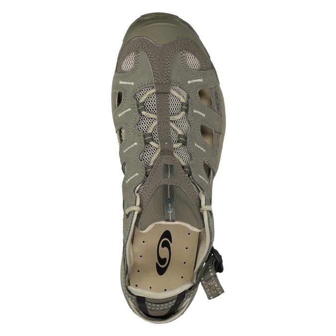 Kožená obuv v Outdoor stylu salomon, zelená, 863-8001 - 19