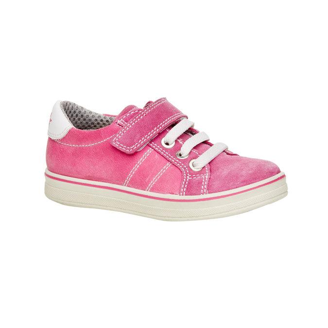 Dětské kožené tenisky mini-b, růžová, 223-5120 - 13
