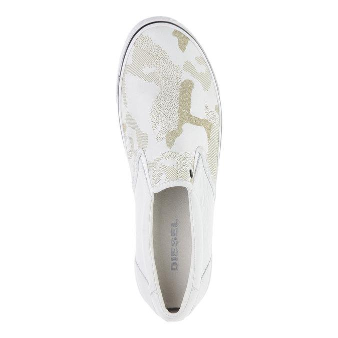 Světlé pánské Slip on boty diesel, bílá, 884-1230 - 19