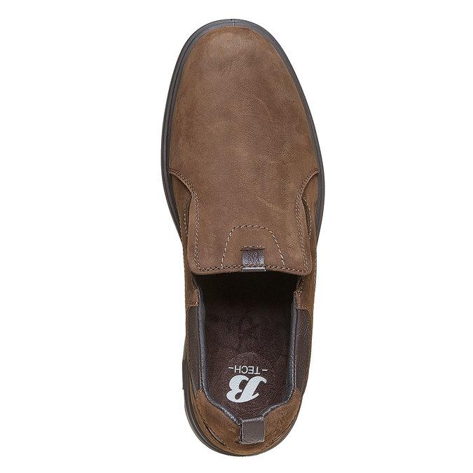 Pánské kožené nazouváky bata, hnědá, 816-4223 - 19